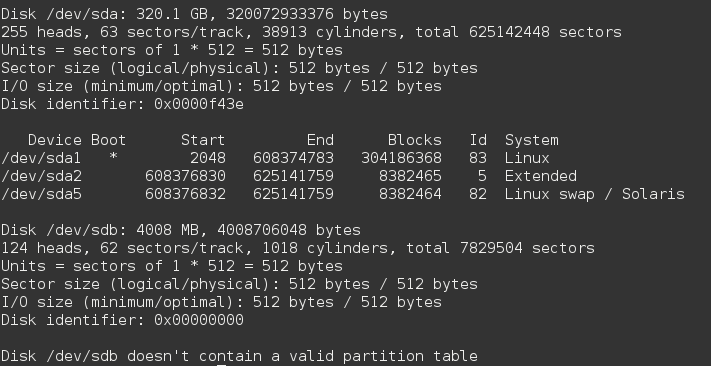 How to format an external storage device using parted