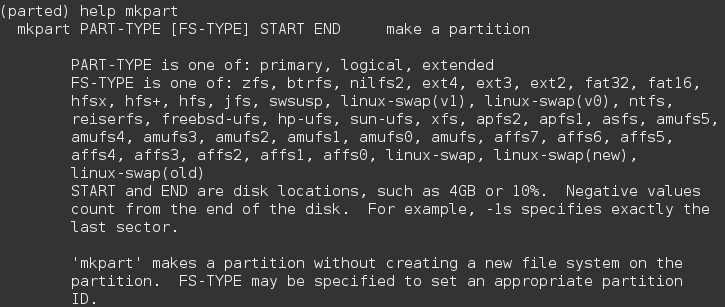 How to format an external storage device using parted | Trisquel GNU