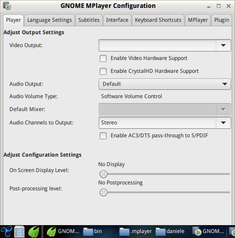 GNOME MPlayer plays sound only for root   Trisquel GNU/Linux