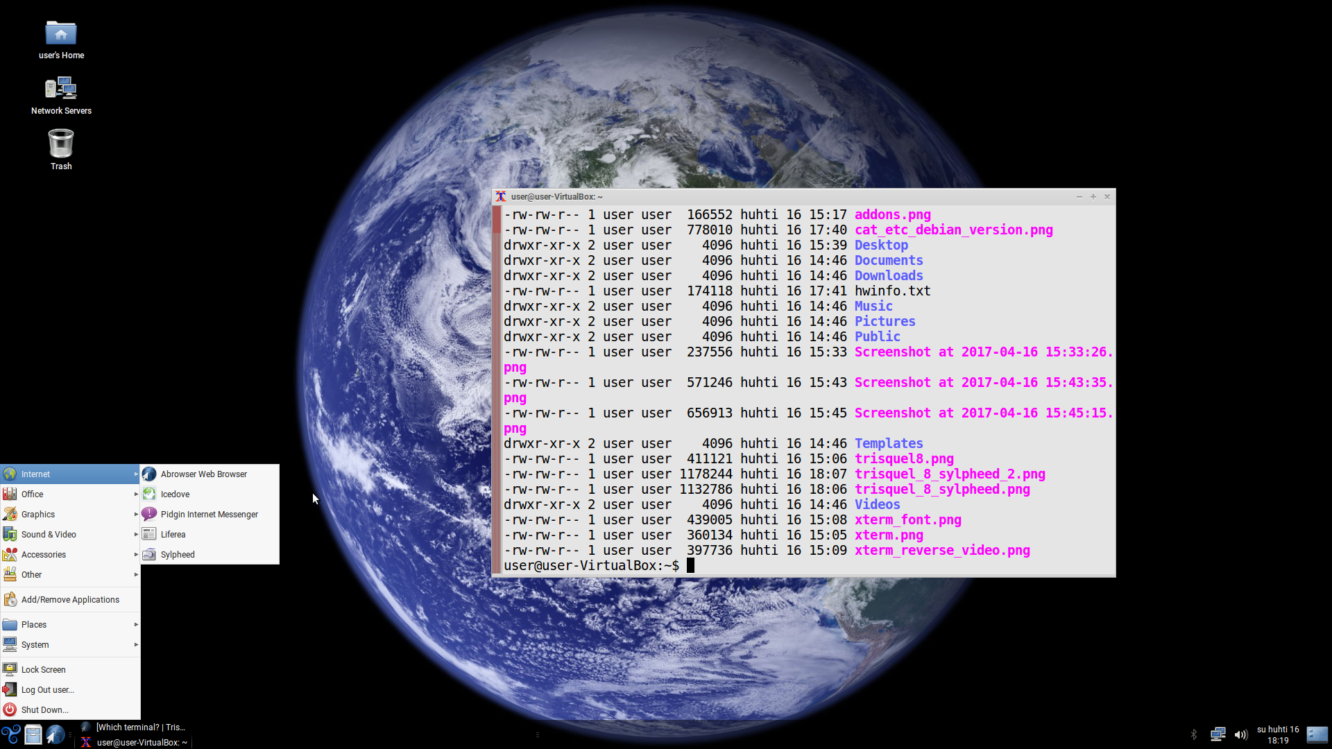 Which terminal?   Trisquel GNU/Linux - ¡Vai por libre!