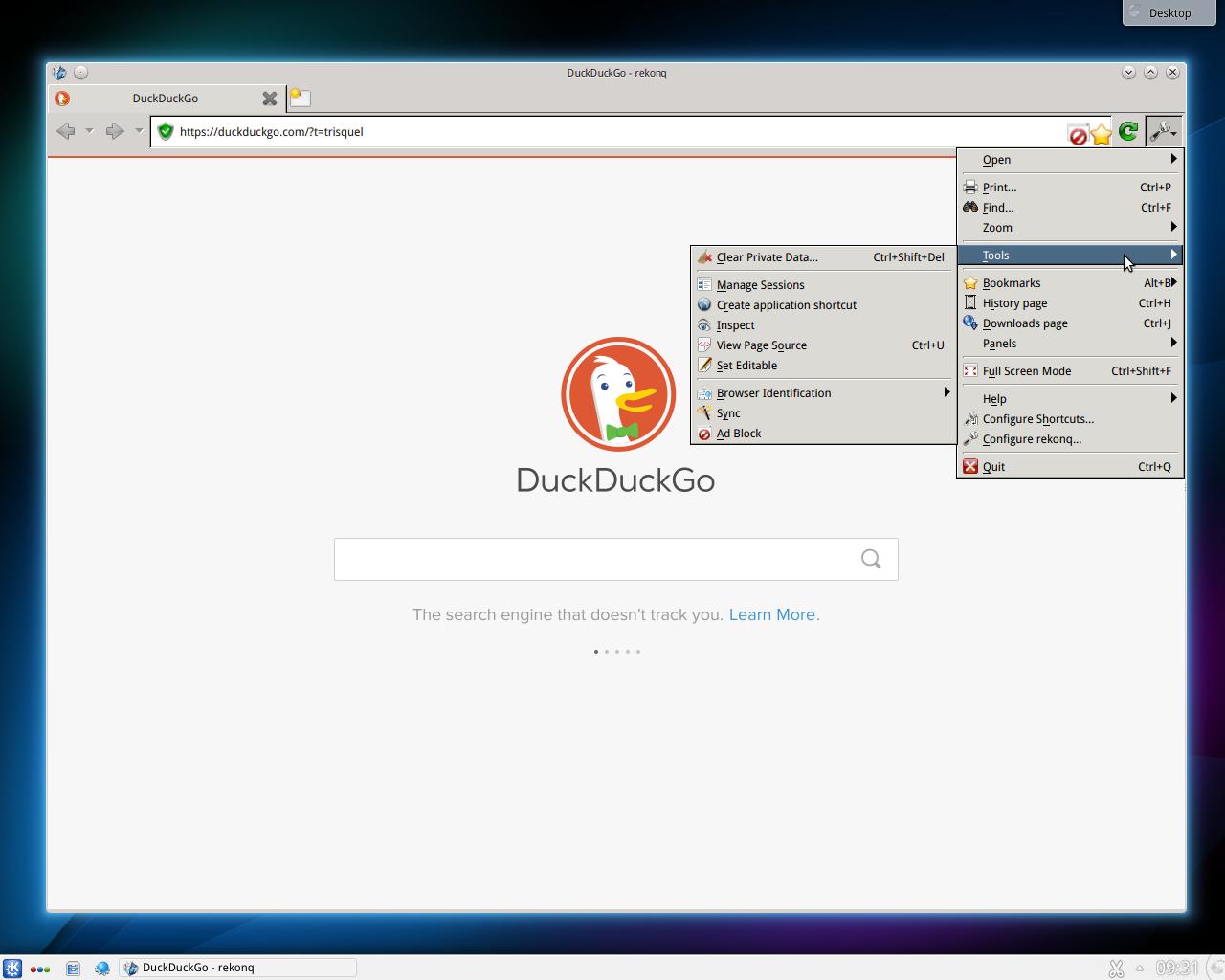 Trisquel_7_mini_KDE_Rekonq.png