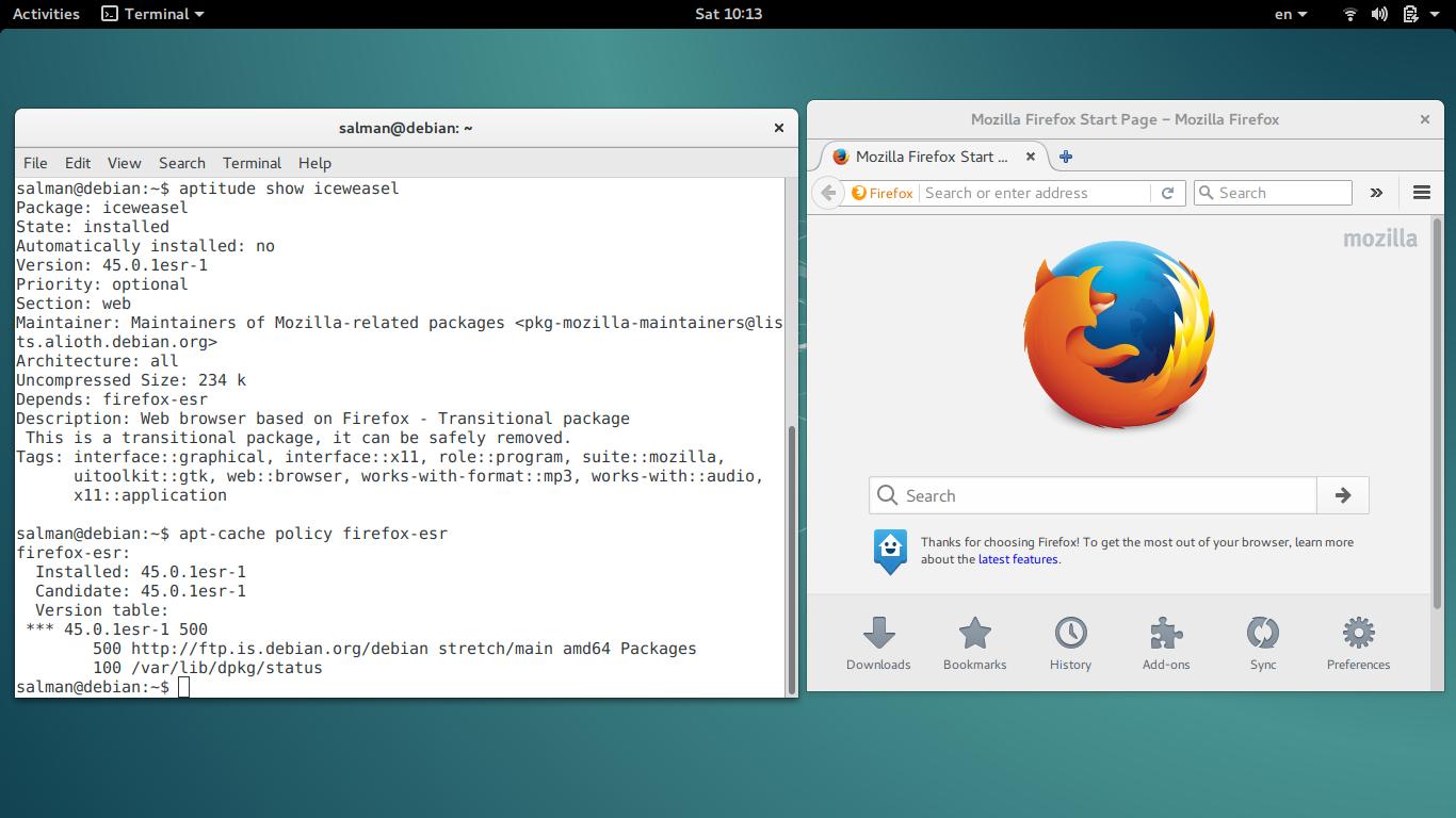 Firefox replaced Iceweasel on Debian Stretch   Trisquel GNU/Linux